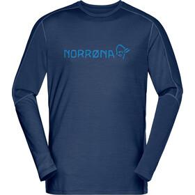 Norrøna Equaliser LS Round Neck Merino Shirt Men, indigo night